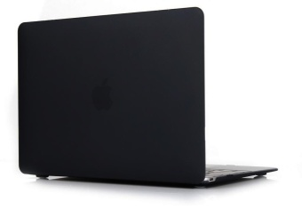 Rubberized Protective Tablet Case For Apple Mac-book 13.3 Inch Air (Black)- Intl