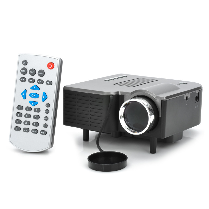 Unic uc28 mini portable projector black lazada ph for Mini portable pocket projector