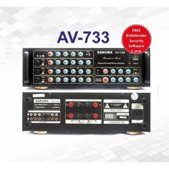 Sakura AV-733 400W X 2 Karaoke Mixing Amplifier (Black)