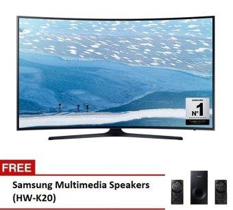 "Samsung 49"" UHD 4K Curved SmartTVSeries UA49KU6300G with FreeMultimedia Speaker HW-K20"