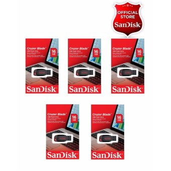 Sandisk 16GB Cruzer Blade USB 2.0 Flashdrive SET OF 5