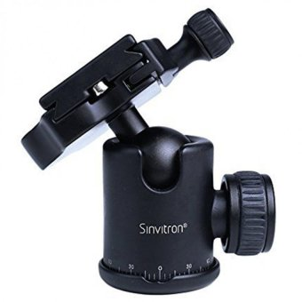 Sinvitron QZSD-06 Aluminum 30mm Camera Tripod Ball HeadBallhead+Quick Release Plate Pro Camera Tripod Max Load to 15kgQ-06 (Black)