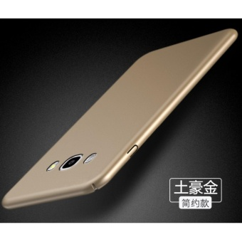 Slim Fit Shell Hard Full Protective Anti-Scratch Resistant CoverCase for Samsung Galaxy J5 2015(Gold) - intl