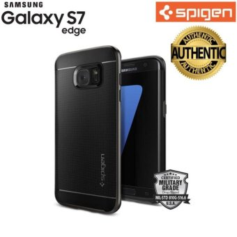 Spigen Neo Hybrid Gunmetal TPU Case for Galaxy S7 Edge (Black) - intl