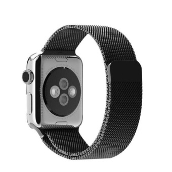 Stainless Steel Bands Strap For Apple Watch Series 1/2 38MM BK -intl