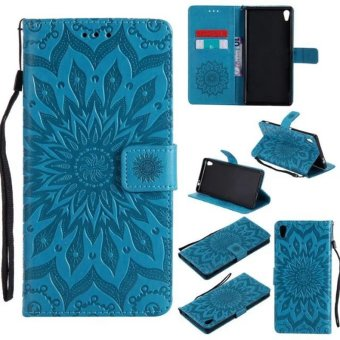 Sunflower pattern PU Leather Wallet Stand Flip Case Cover For SonyXperia XA ultra Case - intl