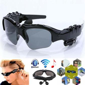 Sunglasses Bluetooth function Stereo Headset headphone Sun Glasses Micphone - intl