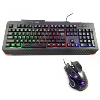 T10 Gaming Rainbow Led Gaming Keyboard Mouse Combo
