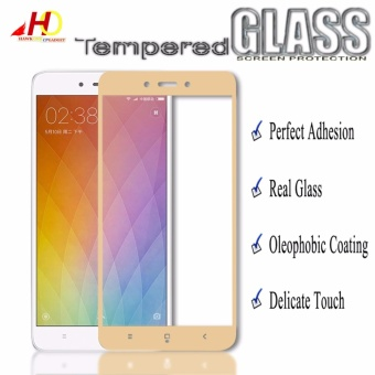 Tempered Glass Full Cover Screen Protector for Xiaomi Redmi 4X(Gold)
