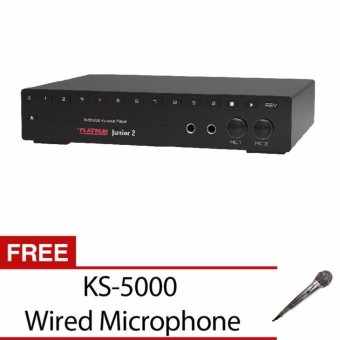 The Platinum KS-10 Plus Junior 2 DVD Karaoke Player with Built in 12,000 Songs and FREE KS-5000 Wired Microphone