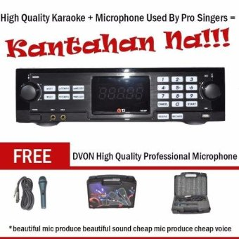 TJ Media TKR-305 HDD Karaoke Player with FREE DVON ProfessionalKaraoke Microphone