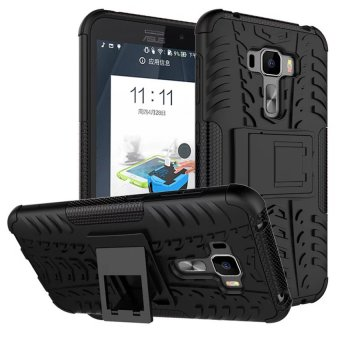 TPU 2in1 Combo Hybrid Hard Case For ASUS Zenfone 3 Z012D (Black) - intl