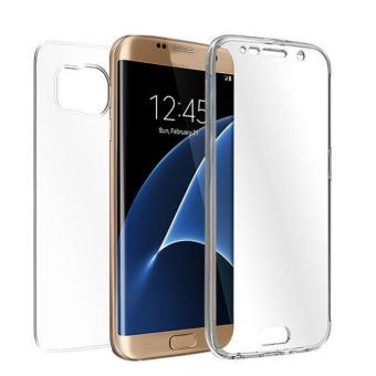 TPU Crystal Clear Cover Full Body Protective Case For Samsung Galaxy S7 Edge Clear - intl