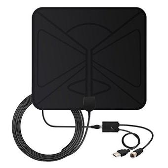 TV Antenna 50 Miles Indoor - Coolmade 2017 Digital HDTV AntennaWith Detachable Channels Amplifier Signals Booster EasyInstallation Antenna For TV 1080P High Reception Amplified With9.8Ft Cable