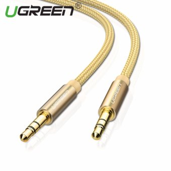 UGREEN 3.5mm to 3.5 mm Jack Aux Cord Gold-Plated Metal ConnectorAudio Cable - 1.5m,Gold - intl