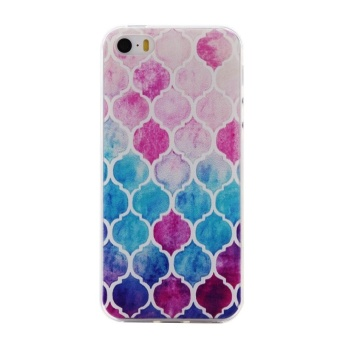 Ultra-Thin Soft Flexible TPU Case for iPhone 5 5s SE (Pattern-12) - intl