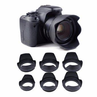 Universal Digital Camera Flower Lens Hood 49mm For Canon Nikon Sony- intl