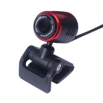 USB 2.0 HD Webcam Camera Web Cam With Mic For Computer PC Laptop Desktop Red - intl