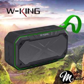 W-King S18 Waterproof/Shockproof Bluetooth Speaker with FM radio/Memory Card and AUX Slot (Black/Green)