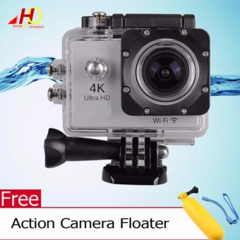 W8 4K 1080p Ultra HD DV 16MP WiFi Sports Action Camera (Silver) w/ FREE Action Camera Floater