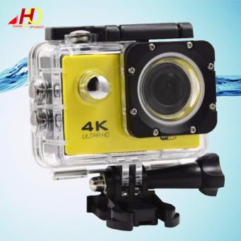 W8 4K 1080p Ultra HD DV 16MP WiFi Sports Action Camera (Yellow)