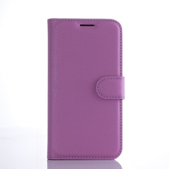 Wallet Flip Leather Case Cover For Samsung Galaxy S7 Edge (Purple)- intl