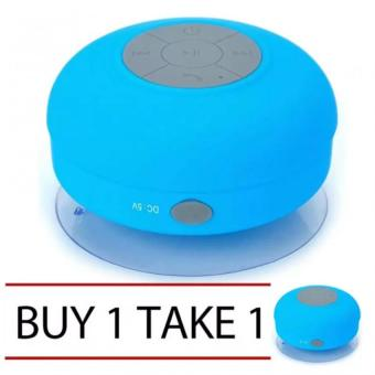 Water Resistant Silicone Bluetooth Speaker (Blue) Buy 1 Take 1