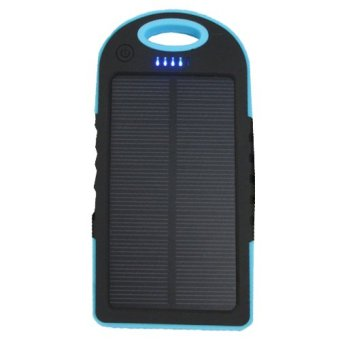 Waterproof 50000mAh USB Solar Charger Power Bank (Blue/Black)