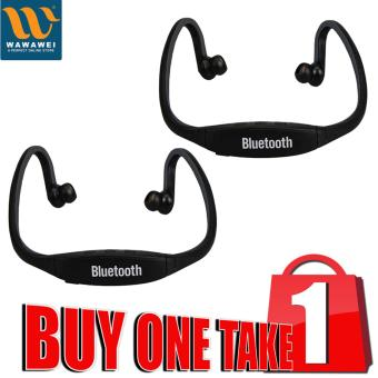Wawawei S9 Bluetooth Sport Headset For Smart Phones Buy 1 Take 1(Black)