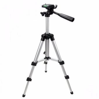 Wawawei Tripod 3110 Portable Camera Tripod with Three-dimensionalHead for Canon Nikon Sony Cameras Camcorders (Silver)