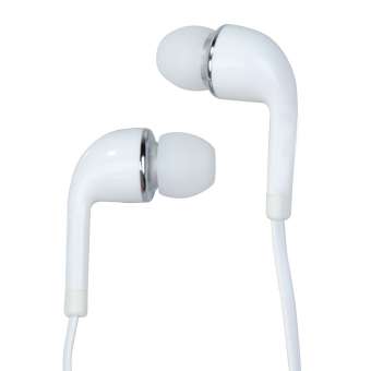 White In-Ear Earphone Earbud Headset with Mic for Samsung Galaxy S3S4