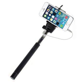 wired selfie stick handheld extendable tripod monopod holder for iphone samsung smart phone. Black Bedroom Furniture Sets. Home Design Ideas