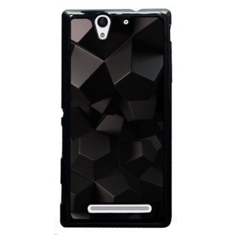 Y&M Black Geometric Phone Case for Sony Xperia C3 (Multicolor)