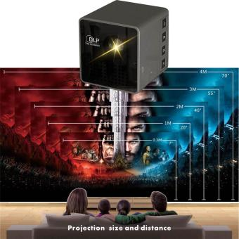 YBC Mini Cube DLP LED Projector HD Video Projector With WIFI for Sharing Vid - intl