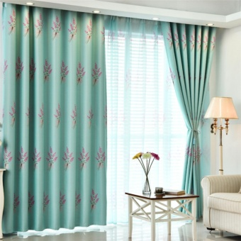 100*250cm Elegant Luxury Floral Pattern Window Curtains WindowBlackout Curtain for Living Room Bedroom Home