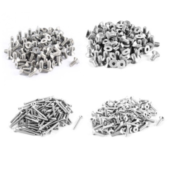 100pcs 304HC Stainless Steel Hex Countersunk Flat Bolts Screws M4x8mm - intl