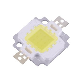 10Pcs 10W LED SMD Chip COB DC 9-12V For Lamp Flood Light Beads Bulb High Power Cool White - intl