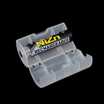 10PCS White Plastic AA To D Size Battery Conversion AdapterSwitcher Converter Case Box 1 aa To 1 D Use - intl