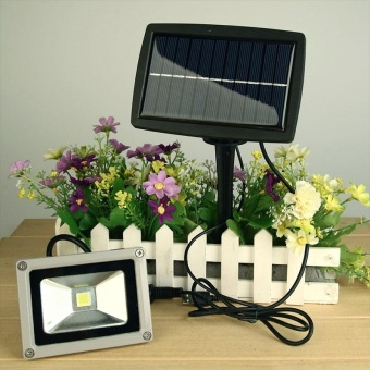 10W USB Solar Power LED Flood Night Lights Garden Spotlight Waterproof Outdoor - intl