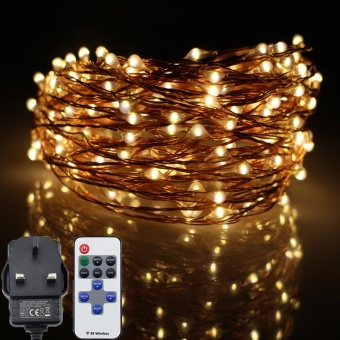 12M 240LED Led Fairy Lights, Copper Wire Starry String lights with Multi-Function Remote Controller for Christmas, Weddings, Parties Decor - intl