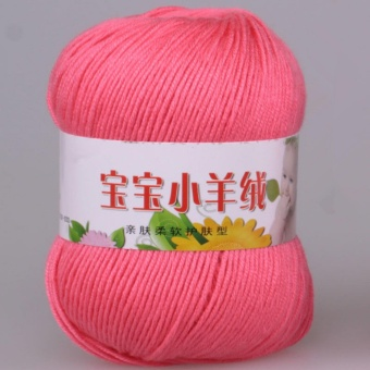 1piece 50g Soft Cotton Wool Knitting Warm Yarns for Crochet Knitted Babies Sweater Knit White Black Pink Rose Yellow Purple Green