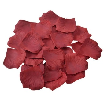 2000pcs Silk Rose Petals Flower Wedding Confetti Flowers EngagementParty Decoration Red Rose Yellow White Purple Pink - intl