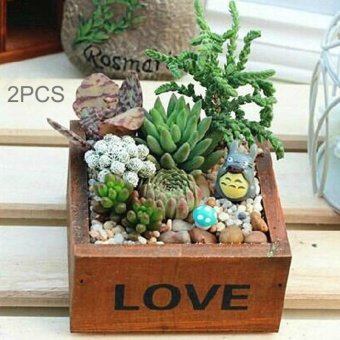 2PCS Plant Flower Flower Pot Flower Mini Box,Random Color Delivery- intl