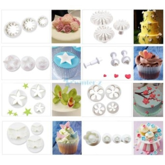 33 pcs Plunger Fondant Cutter Cake Cookie Biscuit Cake Mold DIYbaking Tools UK - intl