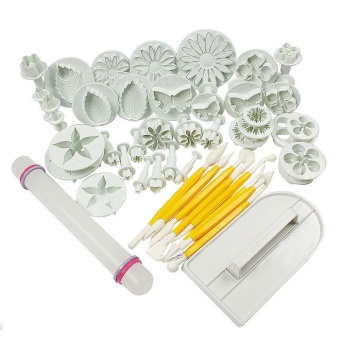 46pcs Cake Decoration Tools Flower Fondant Cake SugarcraftDecorating Kit Cookie Mould Icing Plunger Cutter Tool - intl