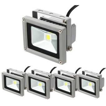 4Pcs 10w High Power LED Outdoor Flood Wash Light Lamp DC12V Pure White - intl