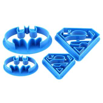 4pcs Batman Cake Cookies Biscuit Cutter Fondant Pastry Mould Decorating Mold - intl