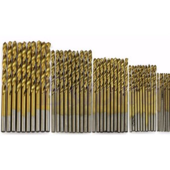 50Pcs Titanium Coated HSS High Speed Steel Drill Bit Set Tool1/1.5/2/2.5/3mm (Intl)