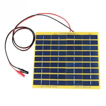 5W 18V Clamp Polycrystalline Cells Solar Panel Poly Power GeneratorBattery Charger