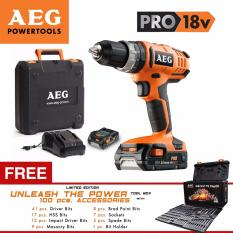 power tools for sale. aeg bsb 18g2li 18v heavy duty hammer drill and driver with free power tool box 100pcs accessories 1 year guarantee tools for sale
